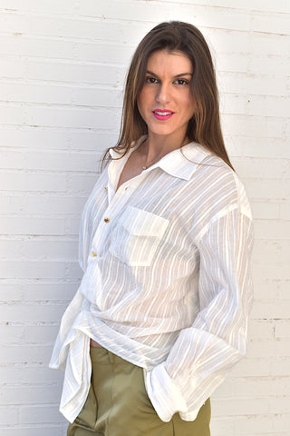 Image of Camisa Blanca Nudo Miss Sixty