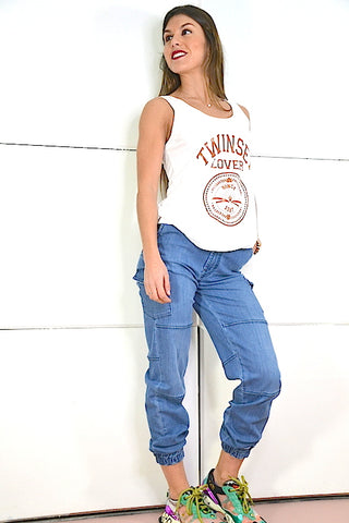Pantalon Denim jogging S.Q.S