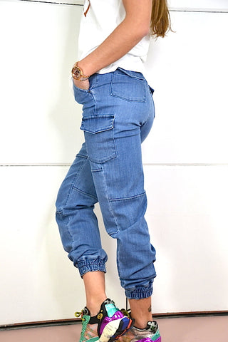 Image of Pantalon Denim jogging S.Q.S