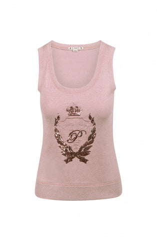 Camiseta Highly Preppy logo Lurex