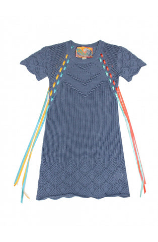 Image of Vestido Tricot Highly Preppy Calado