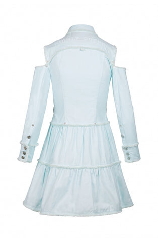 Image of Vestido Highly Preppy Camisero Flequillo