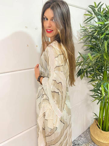 Image of Kaftan Largo Cebra Boho Chic