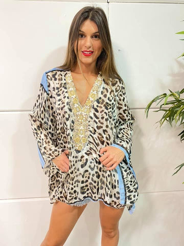 Image of Vestido Animal Print Boho Chic