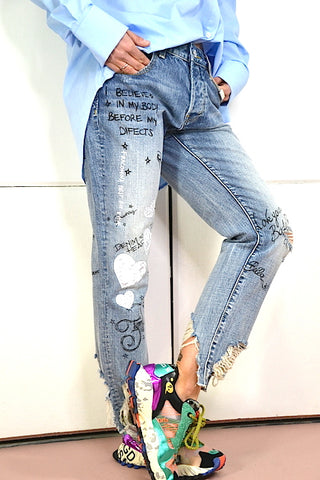 Image of Pantalon Denim Boyfriend Fracomina
