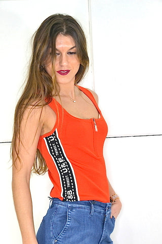 Image of Top Twinset Naranja