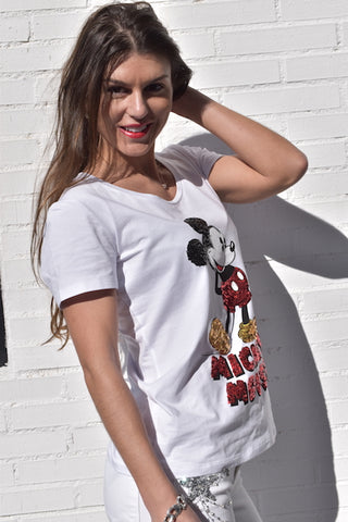 Image of Camiseta Fracomina Mickey Strass