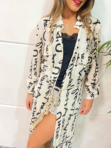 Image of Vestido Largo Letras Boho Chic