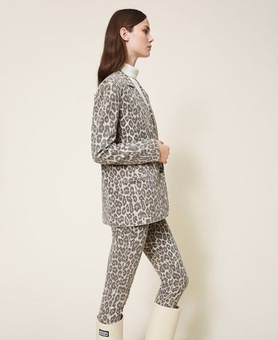 Blazer Twinset animal Print