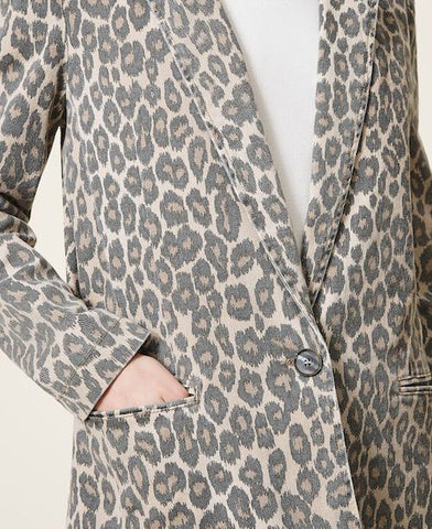 Image of Blazer Twinset animal Print