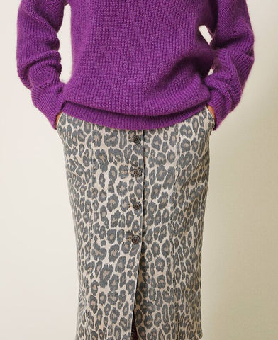 Falda Twinset estampado animal print