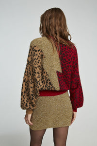jersey bicolor aniye by en animal print y rayo dorado