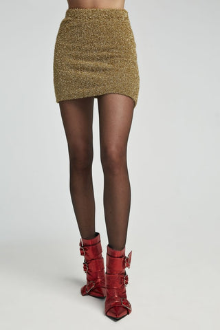 Image of mini falda dorado lurex de aniye by
