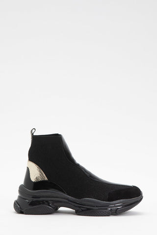 Image of sneakers botin twinset estilo calcetin