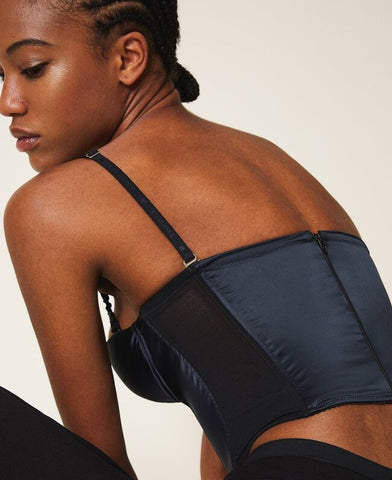 Image of Top Bustier Twinset Raso Negro
