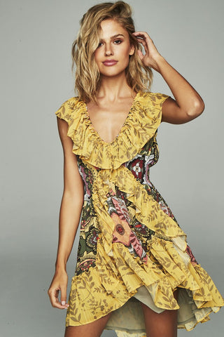 Image of Vestido HIGHLY PREPPY Gasa Cola Amarillo