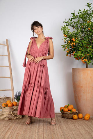 Image of Vestido Largo escote V Sundress