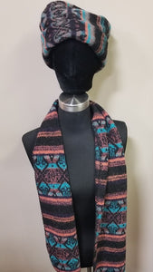 Hat and Scarf Set - Choice of Colors/Design