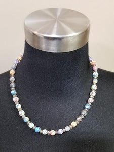 Viva Beads Clay Med Beads Smoked Crystal Beaded Necklace (2 Choices of colors)