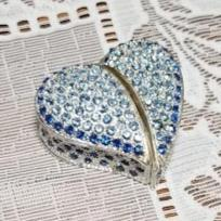 Blue Heart Trinket Jewelry Box- NEW!