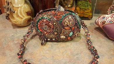 Mary Frances Ornate Multi-color Hand Bag Retired Design