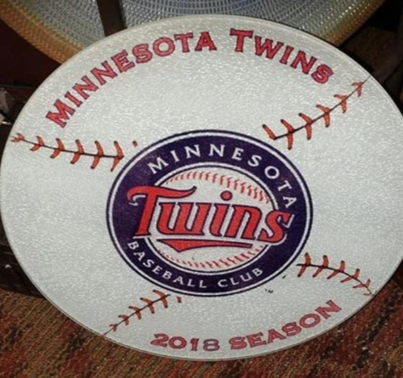 MN Baseball Collectible 2018 Season Cutting Board - MINNESOTA TWINS