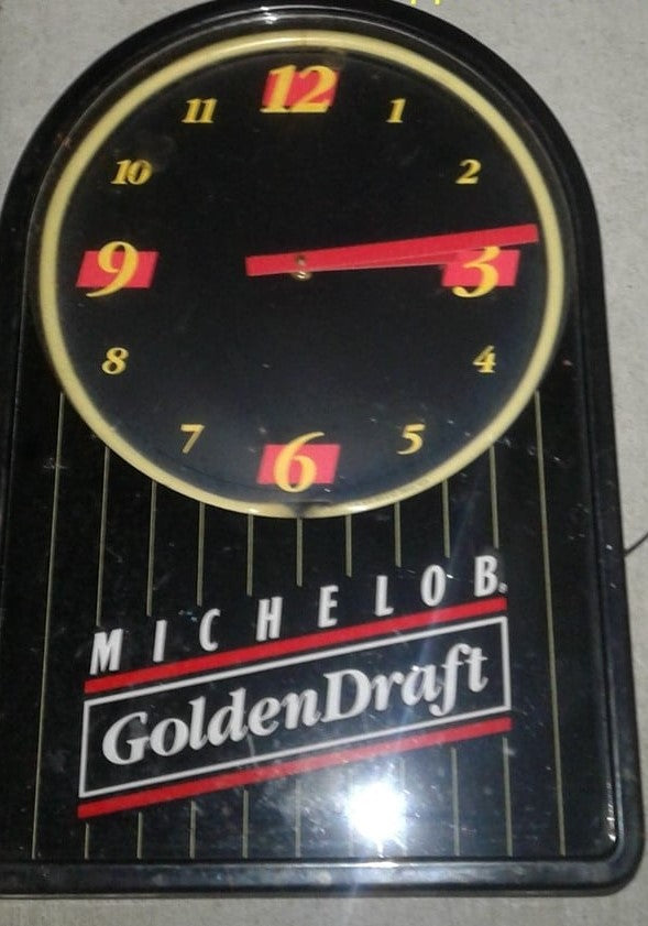 Michelob Golden Draft Beer Sign - Collectible