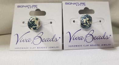 Viva Beads Polymer Clay Bead Dutch Blue Series