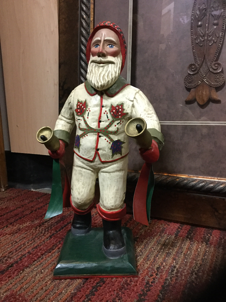 Collectible Leo Smith Carved Santa