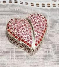 Load image into Gallery viewer, Red Heart Trinket Jewelry Box