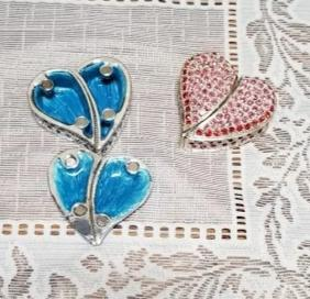 Blue and Red Heart Trinket Jewelry Box- NEW!