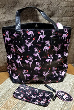 Load image into Gallery viewer, Cherry Martini Girl Large Bag and Wrist-let   by Miss Fluff ( Claudette Barjoud )
