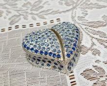 Load image into Gallery viewer, Blue Heart Trinket Jewelry Box- NEW!