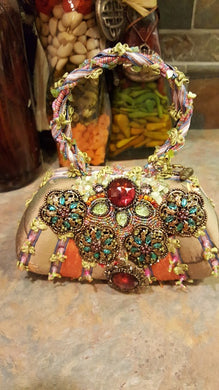 Mary Frances Hand Bag Pastels Flowers Retired Design