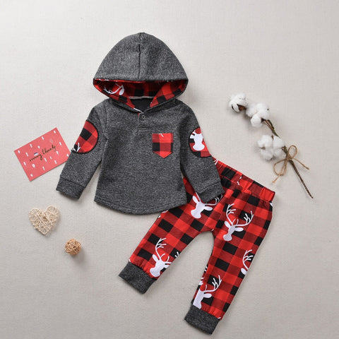 Plaid Moose Outfit