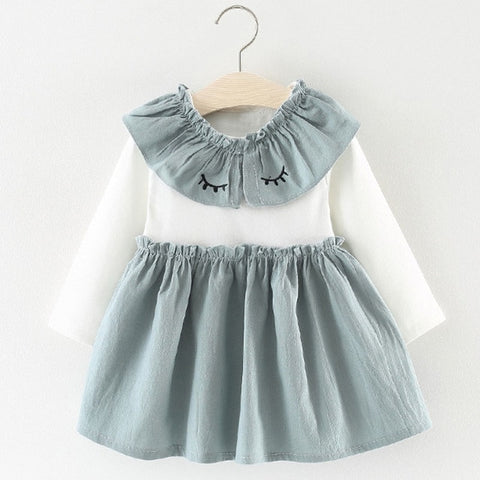 Eyelash Collar Dress