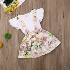 Floral Overall Skirt Set