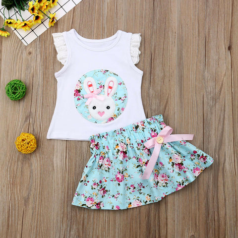 2Pc Floral Bunny