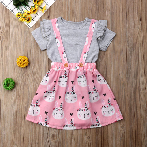 2Pc Bunny Skirt