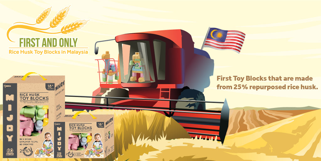 First Rice Husk Toy Blocks in Malaysia
