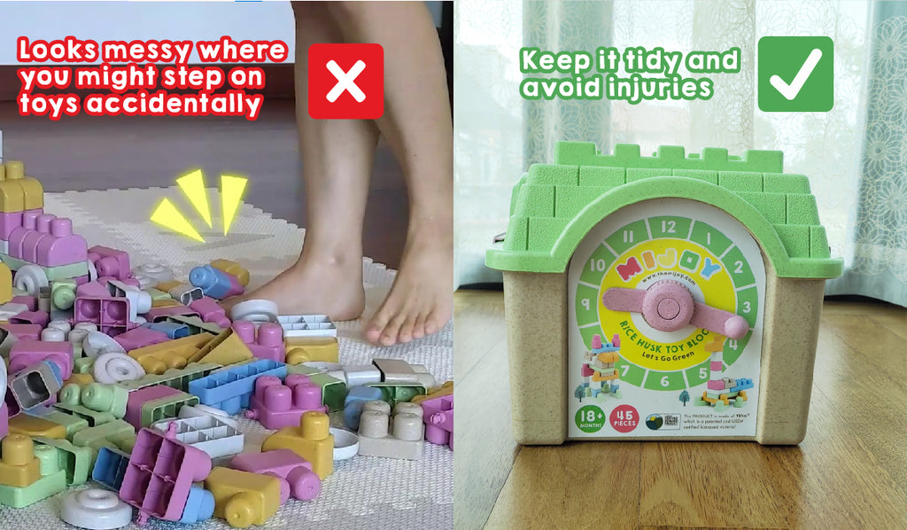 Educate kids to keep toys tidy and neat, develop self-discipline