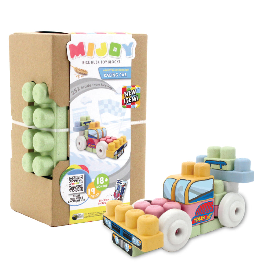 Mijoy Racing Car Toy Blocks