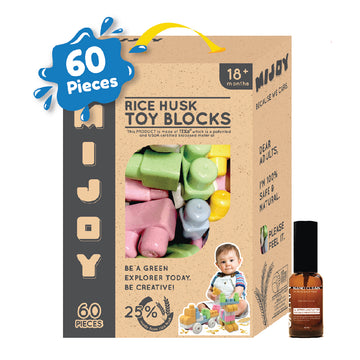 Bundle Deal - 60pcs Mijoy Blocks + Oxtra Nano Clean Spray