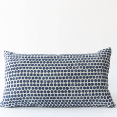 Dot Block Print Pillow in Navy