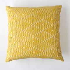 Diamond Print Pillow in Tumeric