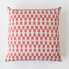 ENDLESS ARROWS PRINTED PILLOW IN CORAL