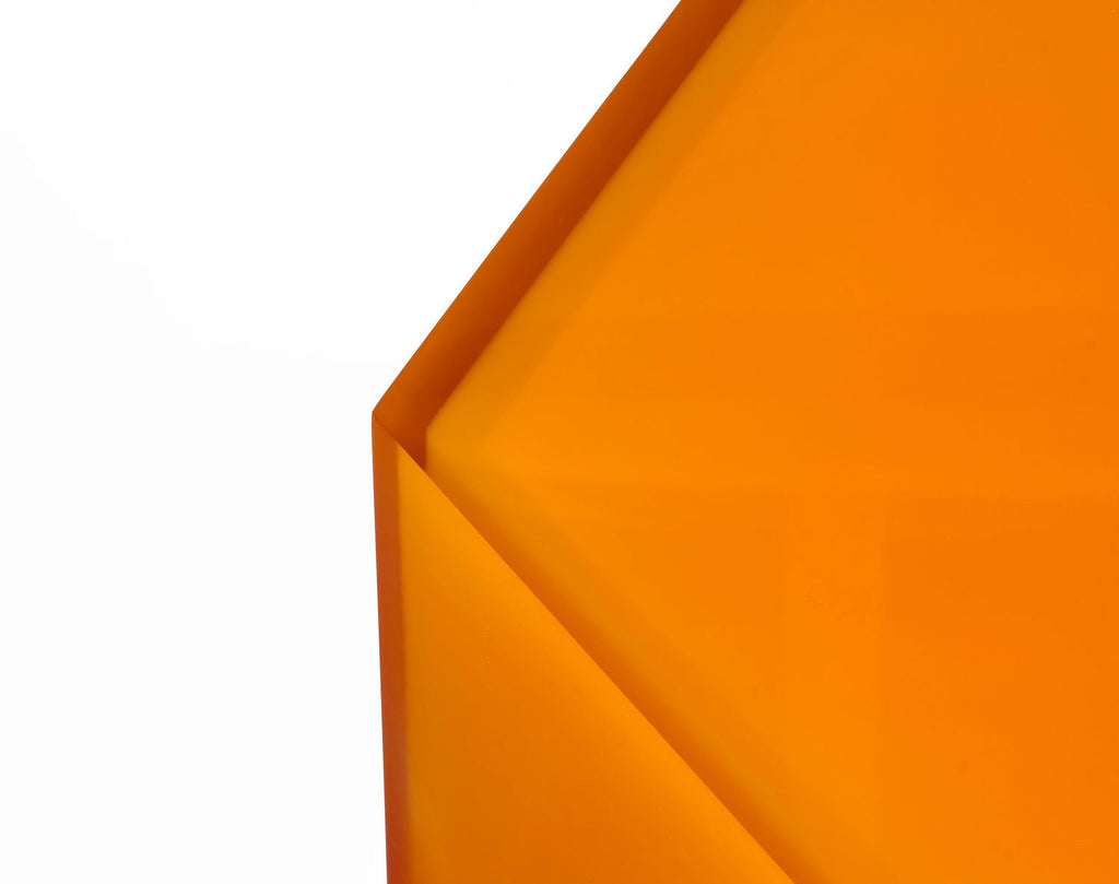 Hex Side Table / Stool, Gradient Orange