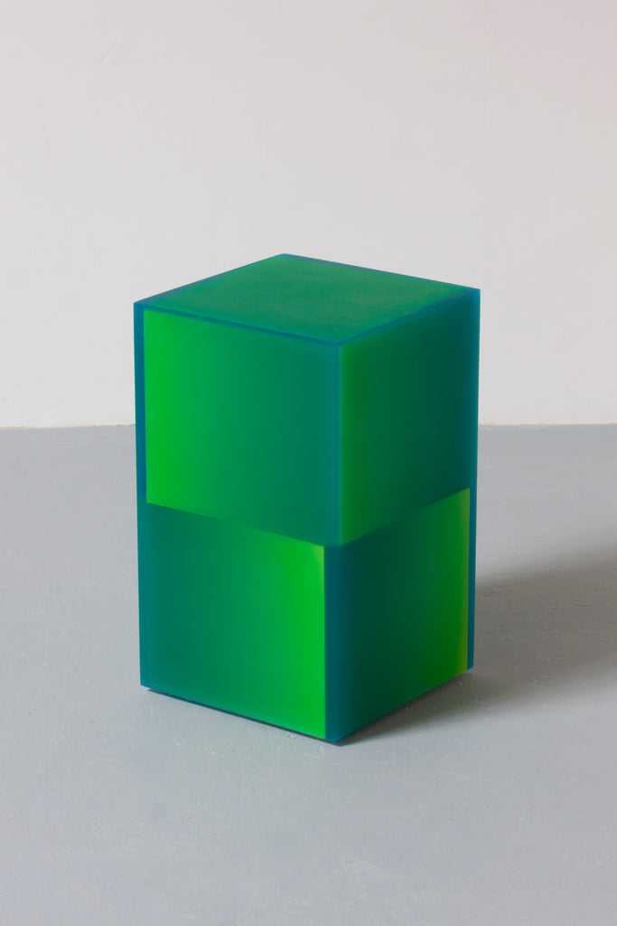 Shifted Cube Box Blue/Yellow
