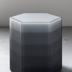 Hex Side Table / Stool, Gradient Gray