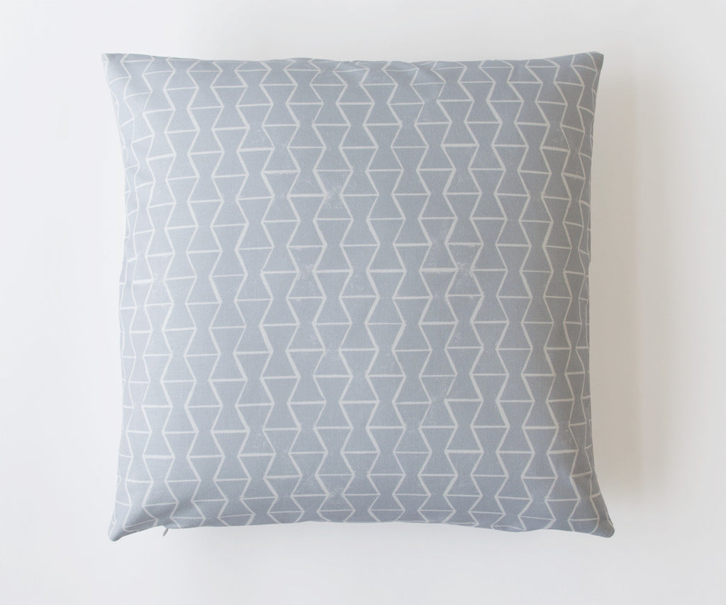 HOUR GLASS PRINT PILLOW IN FOG